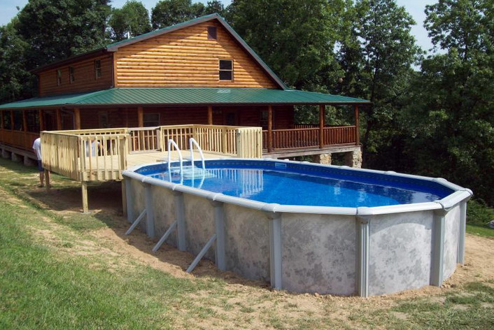 18 X 33 Above Ground Pool Pool Design Ideas