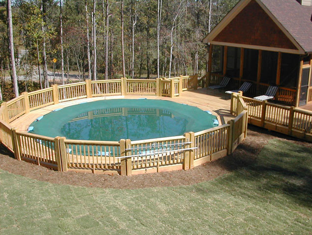 Above ground pool deck ideas pictures pool design ideas for Deck plans for above ground pools