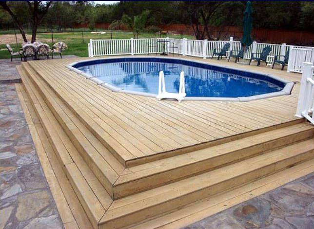 Above Ground Oval Pool Above Ground Pool Deck Ideas Wood