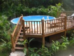 Above Ground Pool Deck Ladder