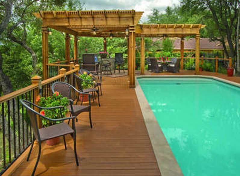 Above ground pool deck photos pool design ideas for Deck from house to above ground pool