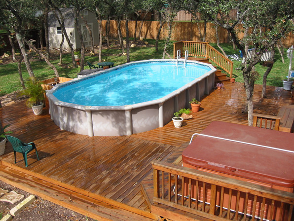 Above ground portable swimming pools pool design ideas for Above ground pool designs