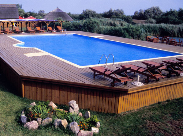 Above ground rectangular swimming pools pool design ideas for Square above ground pool