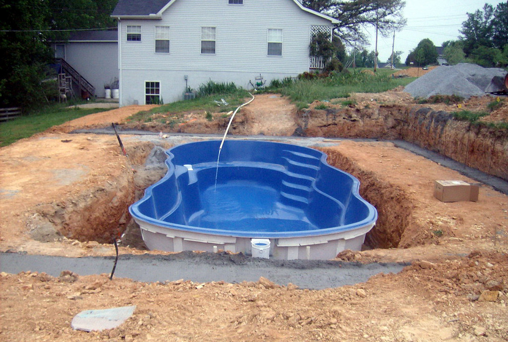 Above ground swimming pool cover pool design ideas for Inexpensive in ground pool ideas