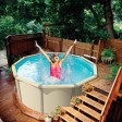 Above Ground Swimming Pool With Deck