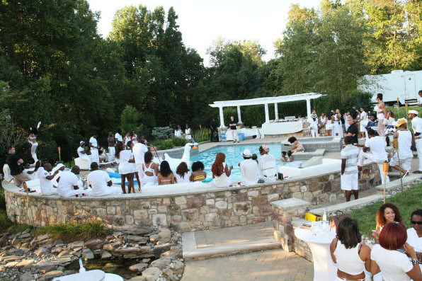 All White Pool Party Ideas