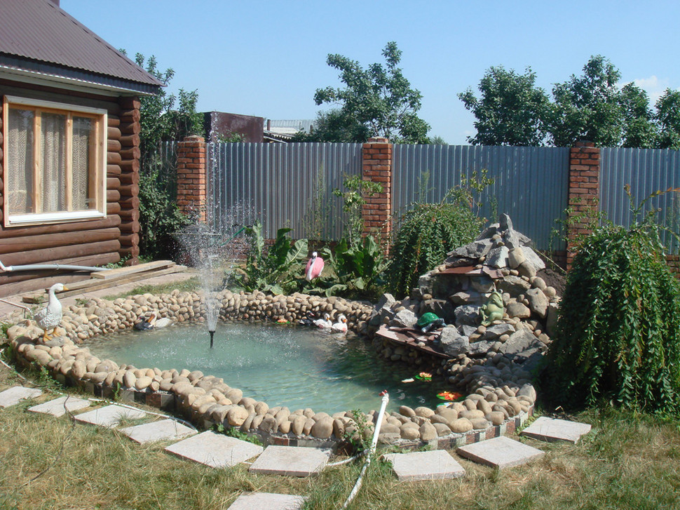Backyard fish pond ideas pool design ideas for Outside fish pond ideas