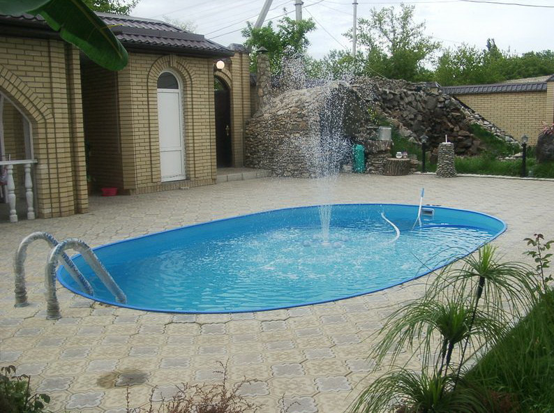 Backyard inground pool designs pool design ideas for Simple backyard pools