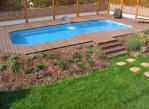 Backyard Landscape With Pool