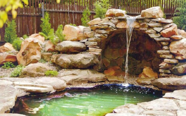 Backyard Pond Pictures With Waterfalls