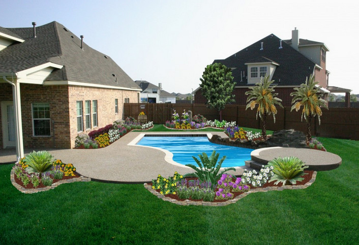 Backyard Pool Remodeling Ideas Pool Design Ideas Delectable Backyard Designs With Pool Remodelling