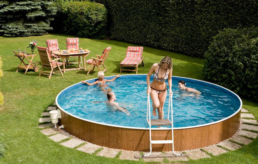 Backyard Design Ideas Above Ground Pool : Above swimming pools backyard ground