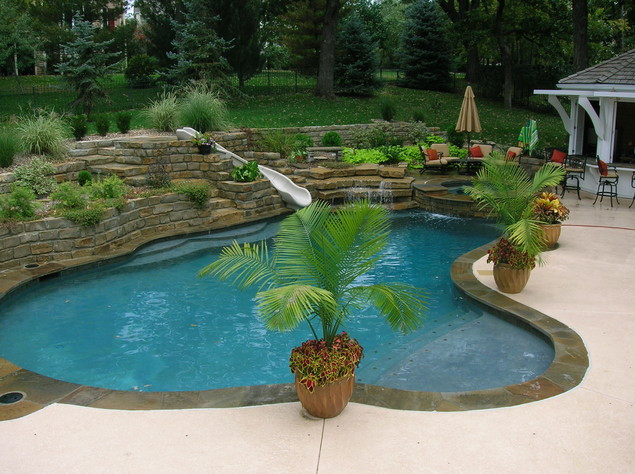 Backyard with pool design ideas pool design ideas for Best backyard pool designs