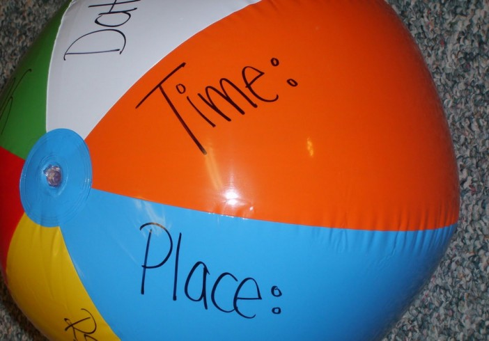 Beach Ball Invitations for Pool Party