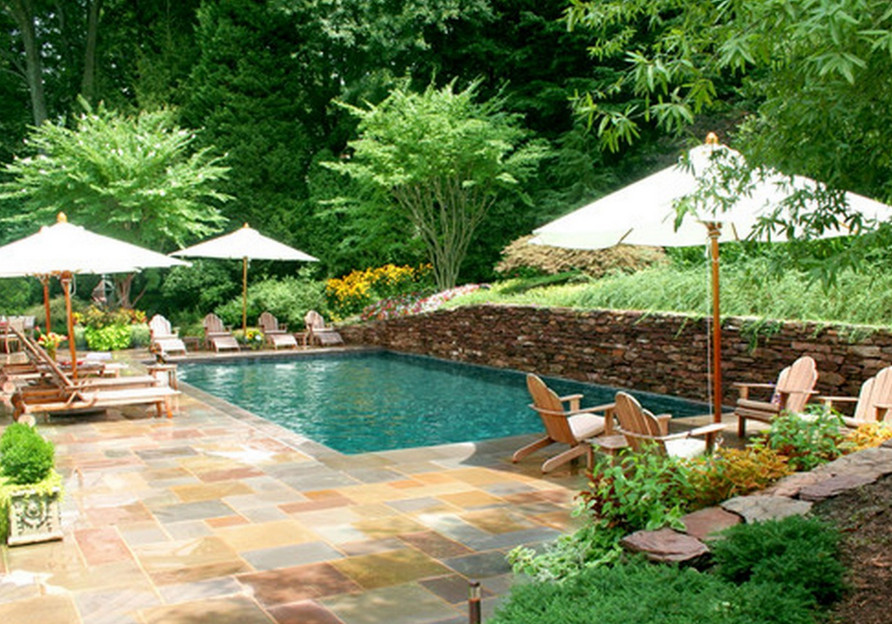 Custom inground pool designs pool design ideas for Gunite pool design ideas