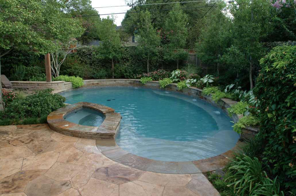 Custom swimming pool designs pool design ideas for Simple inground pool designs