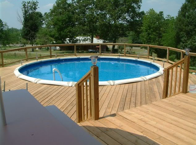Deck Around Above Ground Pool Pictures Pool Design Ideas