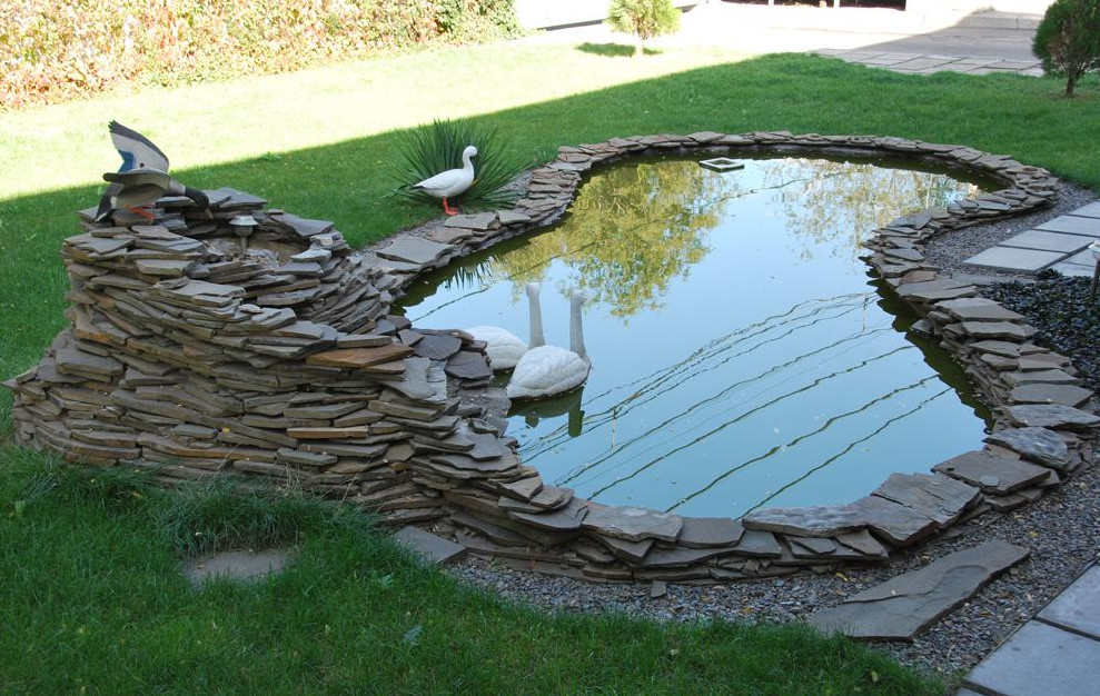 Think about the modern garden pond design ideas for for Yard pond ideas