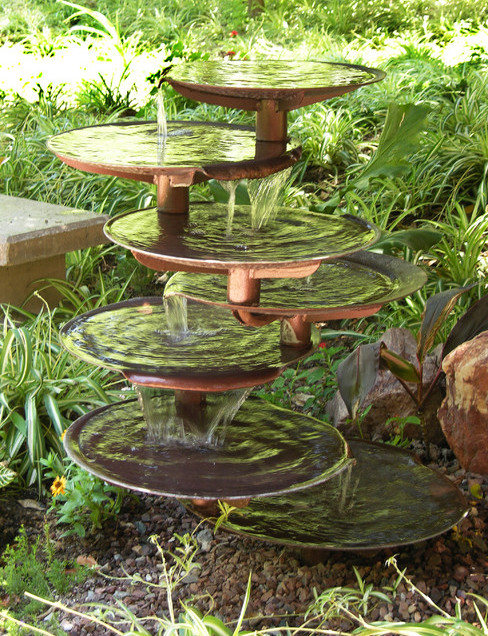 Diy garden water feature ideas pool design ideas for Backyard water fountain ideas