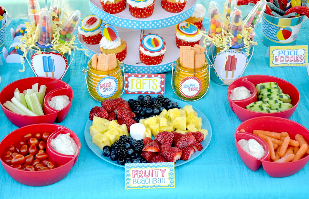 Food for a Pool Party for Kids