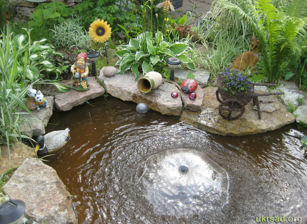 Small pond fountain images galleries for Pond with fountain