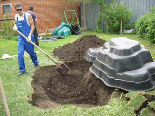 Garden pond waterfall construction pool design ideas for Garden pond design and construction