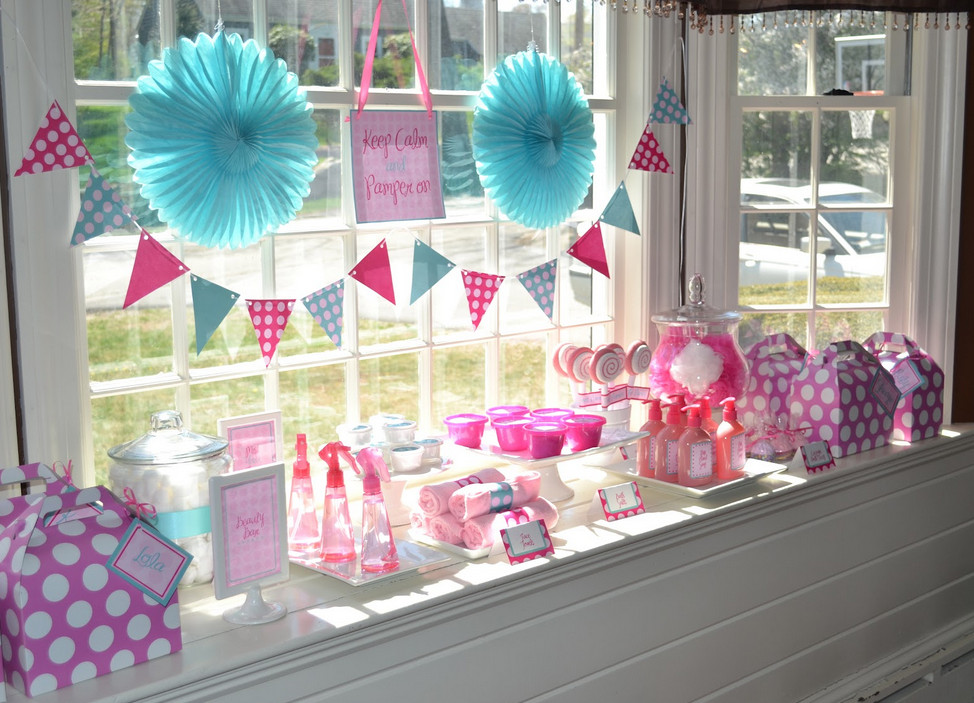Girls spa birthday party ideas at home pool design ideas for Home party decorations