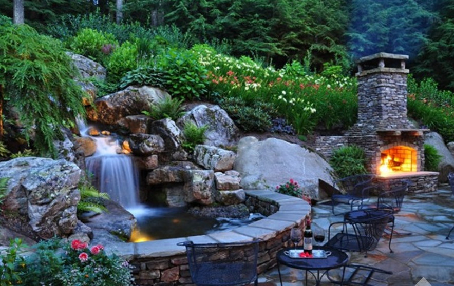 How to build a garden pond waterfall pool design ideas for Diy waterfall pond ideas