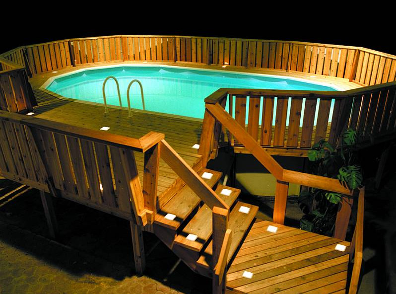 Images of above ground pools with decks pool design ideas for Above ground pool decks images