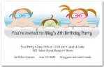 Kids Birthday Pool Party Invitations