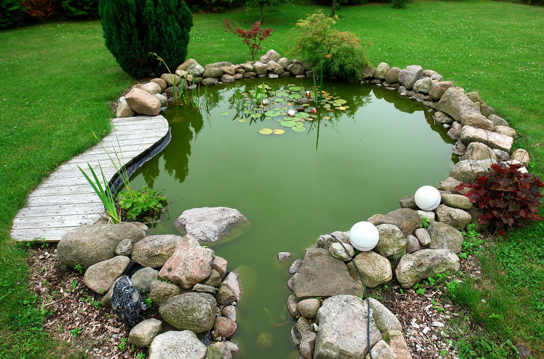 Koi pond landscape ideas pool design ideas for Pond landscape