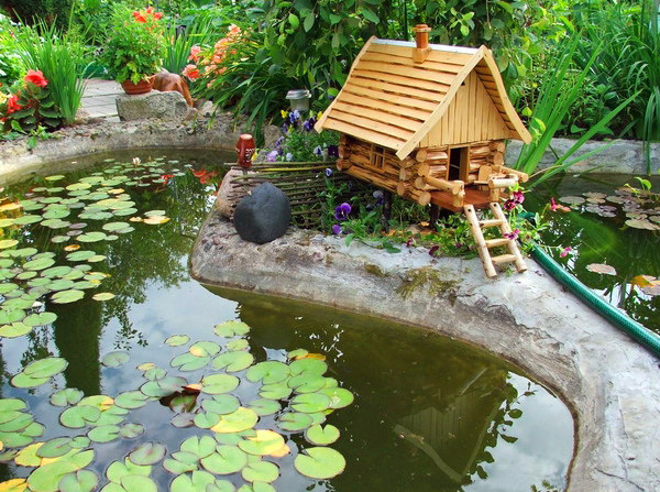 Landscaping around a pond pictures pool design ideas for Landscaping around koi pond