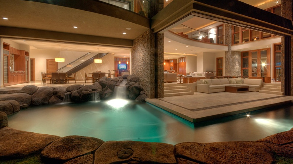 Luxury homes with indoor pools pool design ideas for Fancy houses inside