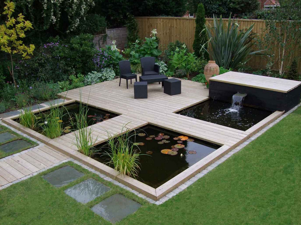 The gallery for modern koi fish pond for Modern koi pond ideas