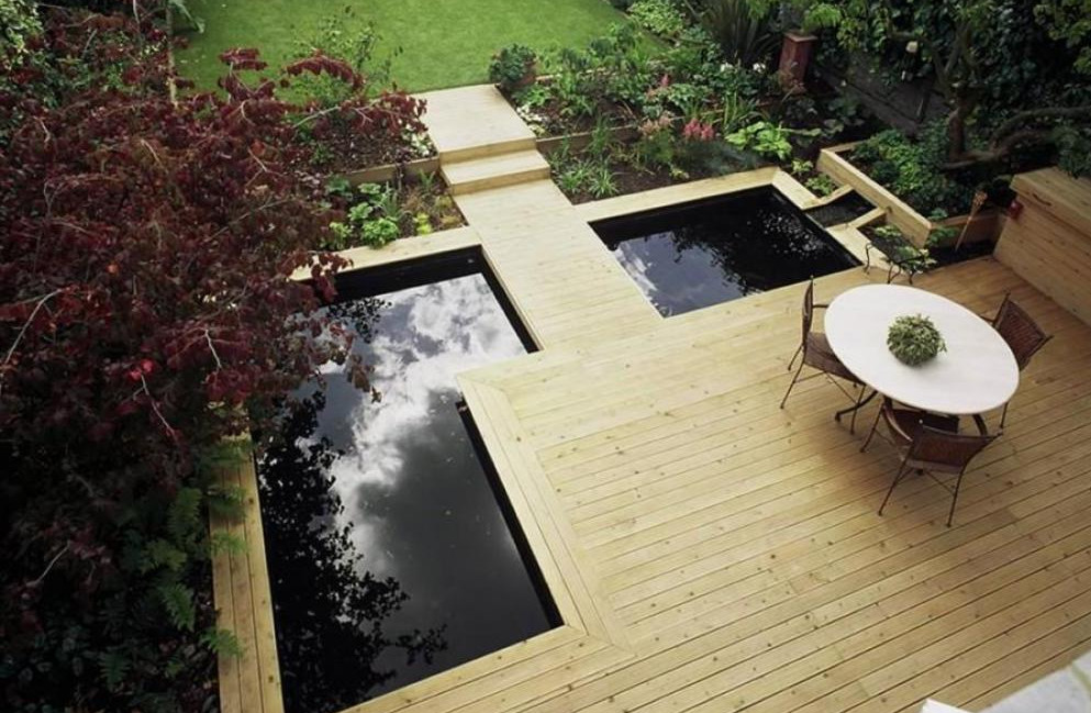 Modern garden pond designs pool design ideas for Garden design ideas with pond