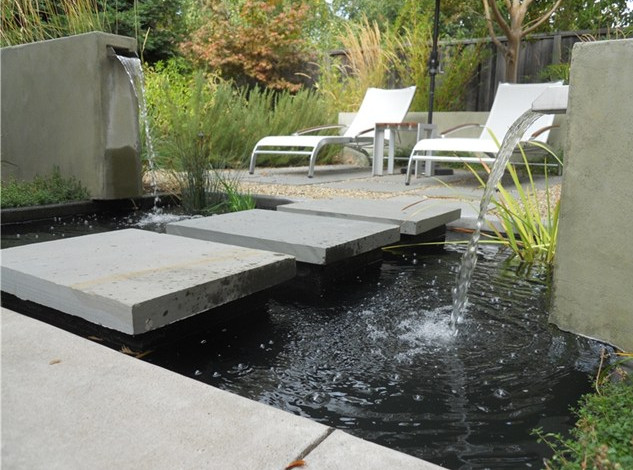 Modern garden pond ideas pool design ideas for Contemporary pond design
