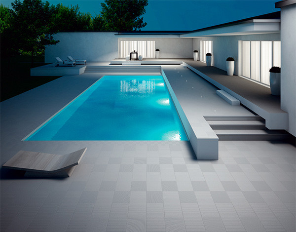 modern pool tile pool design ideas