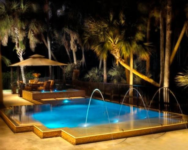 Modern Pool Waterfall Designs