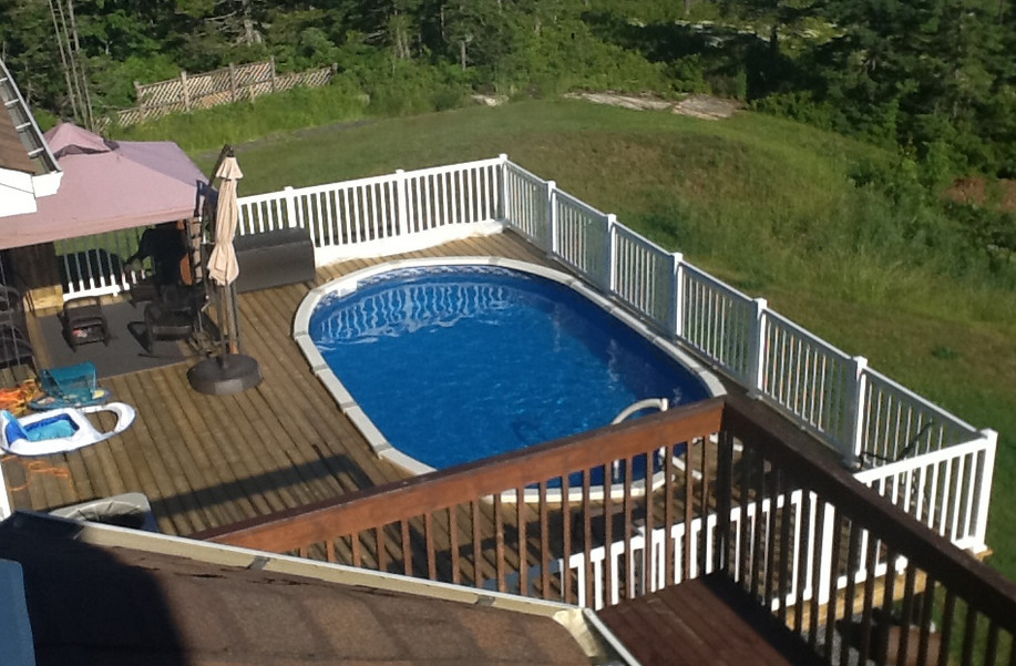 Oval Above Ground Pool Deck Plans