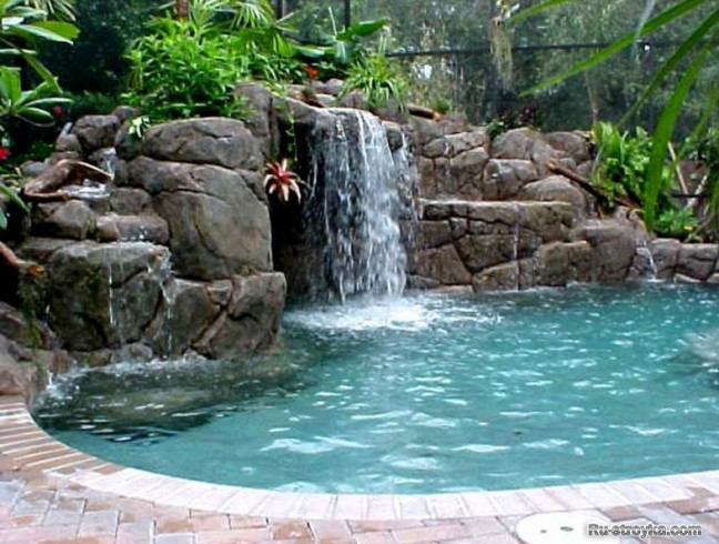 Pictures of Swimming Pools With Waterfalls