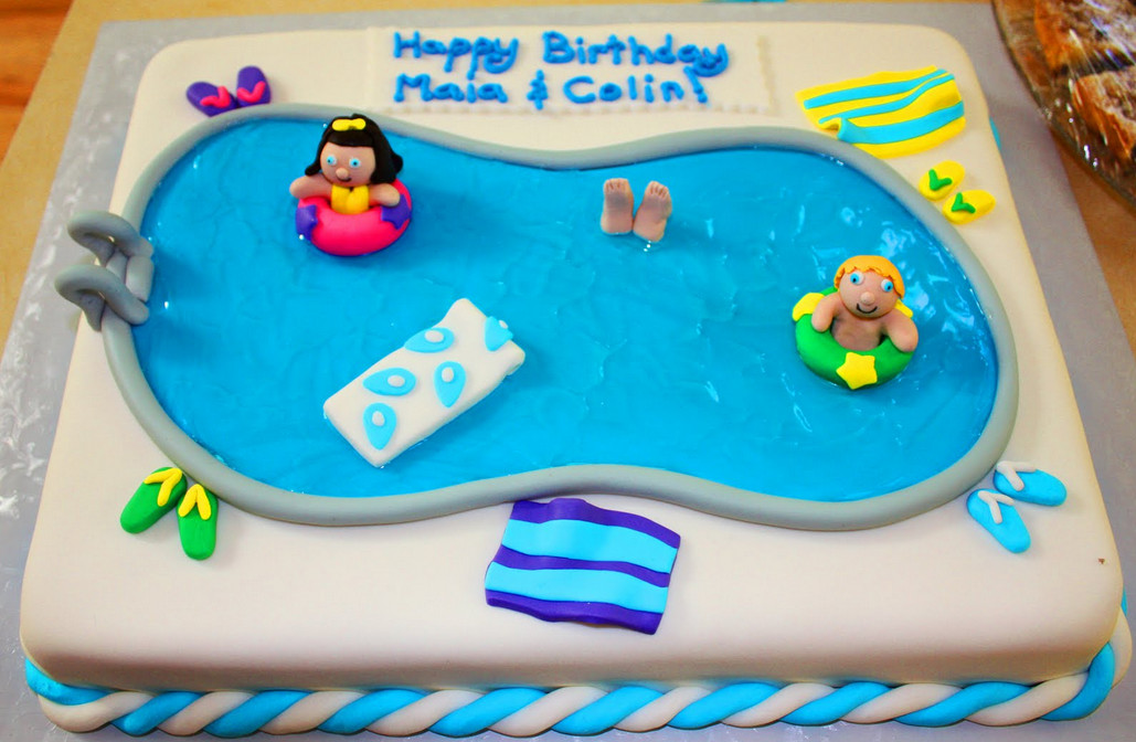 Pool Party Cake Ideas Kids