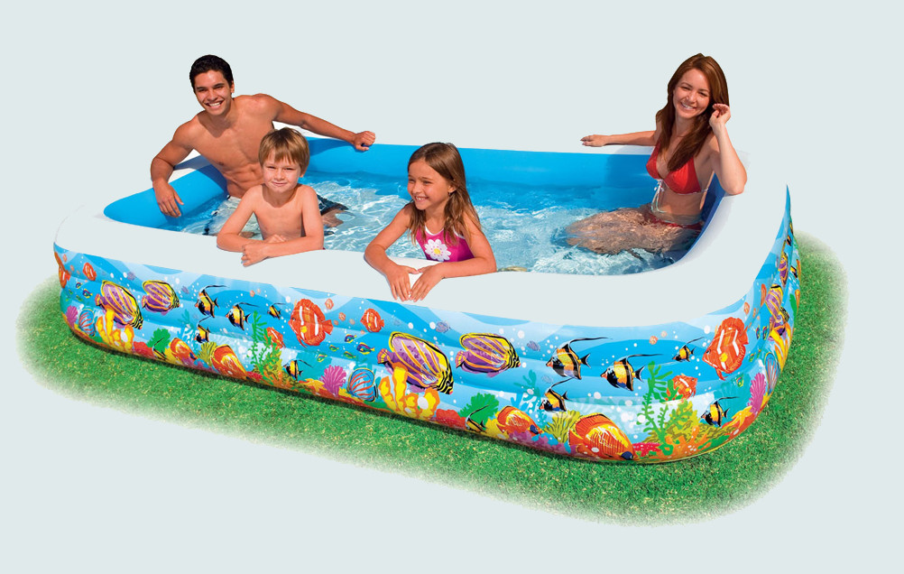 Rectangular inflatable pools pool design ideas for Inflatable above ground pools