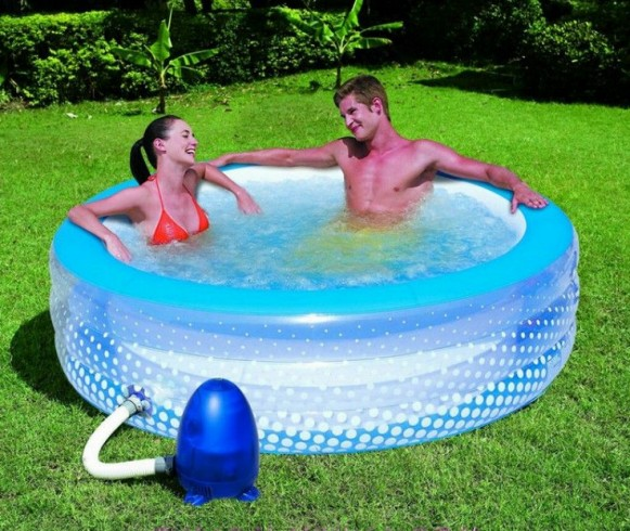 Small pond swimming pool ideas joy studio design gallery for Bestway pool for koi