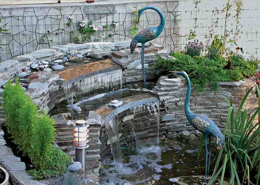 Small backyard ponds waterfalls pictures pool design ideas for Garden fountains and water features