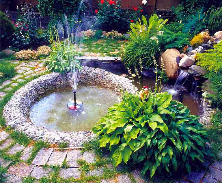 Small garden fountains water features pool design ideas for Garden designs with water features