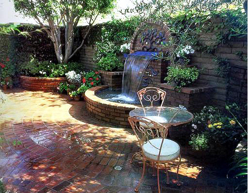Small pond designs with waterfalls pool design ideas for Small garden with pond design