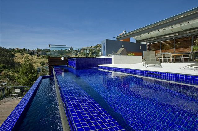 Swimming Pool Glass Tile Pool Design Ideas