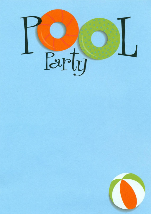 Swimming pool party invitations pool design ideas for Free clipart swimming pool party