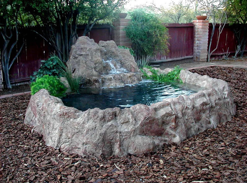 Waterfall for small garden pond pool design ideas Small backyard waterfalls and ponds