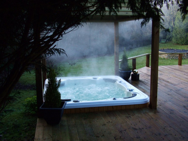 Above Ground Hot Tubs Images Pool Design Ideas